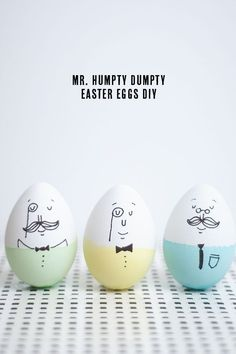 Simple, Last Minute Easter Crafts How To Make Humpty Dumpty Easer Eggs Easter Egg Dye, Hoppy Easter, Easter Bunny, Cool Easter Eggs, Easter Food, Pinterest Easter Ideas, Ostern Party, Easter Egg Designs, Easter Holidays