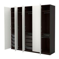IKEA - PAX, Armario, bisagras estándar, , 10 años de garantía. Consulta las condiciones generales en el folleto de garantía.Utiliza la herramienta de planificación PAX para adaptar esta combinación PAX/KOMPLEMENT a tus gustos y necesidades.Si quieres organizar el interior, puedes añadir los accesorios de interior de la serie KOMPLEMENT.Las patas regulables permiten corregir posibles desniveles en el suelo.
