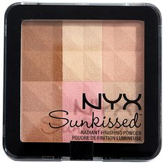 NYX Radiant Finishing Powder Sunkissed Target Australia (590 RUB) ❤ liked on Polyvore featuring beauty products, makeup, face makeup, face powder, beauty and nyx