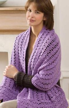Free shawl crochet pattern.  What color will you choose at http://www.maggiescrochet.com/collections/yarn-thread