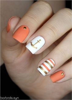 Hey there lovers of nail art! In this post we are going to share with you some Magnificent Nail Art Designs that are going to catch your eye and that you will want to copy for sure. Nail art is gaining more… Read Best Acrylic Nails, Acrylic Nail Designs, Nail Art Designs, Anchor Nail Designs, Nautical Nail Designs, Stylish Nails, Trendy Nails, Cute Nails, Hair And Nails