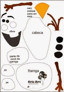 Use as template for Olaf head bean bag for party? Felt Diy, Felt Crafts, Diy And Crafts, Crafts For Kids, Paper Crafts, Olaf Frozen, Disney Frozen, Frozen Felt, Felt Christmas