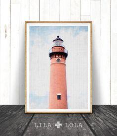 Light House Photography, Lighthouse Wall Art Print, Coastal Nautical Beach Decor, Printable Art, Colour Photography, Coastal Wall Art Print