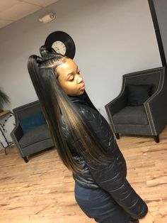 Best hairstyle for fine hair women hair color red copper,how to cut shag hairstyles black female hairstyles,long layered hair back view small braids hairstyles. Weave Ponytail Hairstyles, Ponytail Styles, Baddie Hairstyles, Black Girls Hairstyles, Curly Hair Styles, Natural Hair Styles, Wave Hairstyle, Bangs Hairstyle, Female Hairstyles