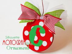 Monogram Ornament Tutorial