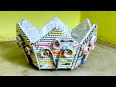(131) How to make a newspaper basket /flower pot /fruit bowl - YouTube