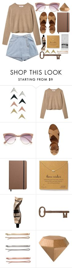 """""""Sand tones"""" by rheeee ❤ liked on Polyvore featuring ASOS, River Island, Chloé, Shinola, Dogeared, Aromatique, Jayson Home, Madewell and Areaware"""