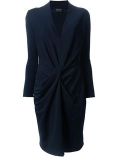 Lanvin twisted draped dress in Spinnaker 101 from the world's best independent boutiques at farfetch.com. $1238.63 s