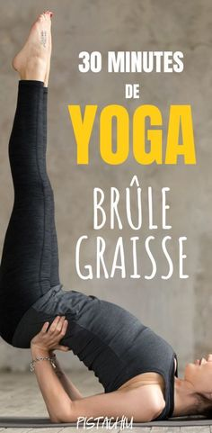 30 Minutes De Yoga Pour Brûler Les Graisses – Pistachiu This fat-burning yoga session is perfect for weight loss. These postures and yoga exercises to lose weight are perfect for beginners and will help you regain a flat stomach quickly. Yoga Fitness, Yoga Gym, Yoga Bikram, Fitness Logo, Physical Fitness, Mens Fitness, Yoga Flow, Beginner Yoga, Yoga For Beginners