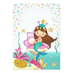 Mermaid Under The Sea Invitation How To With Picmonkey