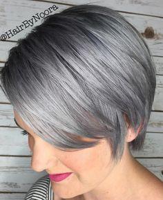 Coloration cheveux gris coupe courte
