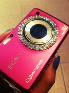 I need a pink, blinged out camera!