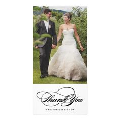 Timeless chic wedding thank you three photo card elegance wedding thank you photo card junglespirit Image collections