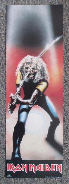Iron Maiden Poster Art | Iron Maiden Eddie Locker Poster 1988 Original Promo Poster Metal B ...