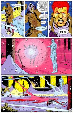 Dr. Manhattan silences Rorschach (Watchmen #12 by Alan Moore and Dave Gibbons)