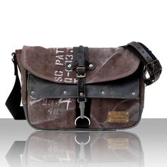 Distressed Messenger Crossbody Bag Painted by peace4youBAGS