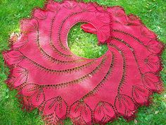 Free Knitting Pattern - Ravelry: Begonia Swirl pattern by Carfield Ma Knit Or Crochet, Lace Knitting, Knitting Stitches, Knitting Patterns Free, Crochet Patterns, Free Pattern, Swirl Pattern, Crochet Shawls And Wraps, Knitted Shawls
