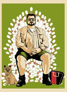 Walter on the Bowling Pin Throne - The Big Lebowski