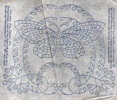 UNUSED 1915 WELDON'S Broderie Anglaise Butterfly Design Transfer Pattern - U.K.