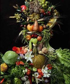 Her work is inspired by Renaissance painter Giuseppe Arcimboldo.   25 Stunning Sculptures Made From Recycled Toys