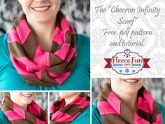 You can learn how to make a chevron Pattern and turn it into and Infinity Scarf with this DIY..