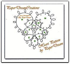 Il mio schema libero di cuore al chiacchierino / Heart Pattern, free for you | Blog di paperdreamcreations