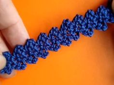 Pasamanería en ganchillo Crochet lace