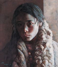 ai xuan1 Chinese painter. Most recents paintings dwell with children, loneliness and the snow covered grounds of Tibet.