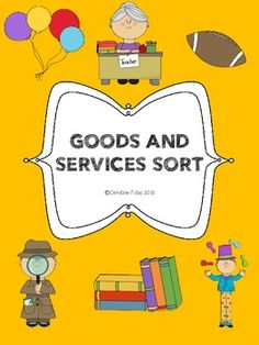 Students can show their understanding of goods and services. This freebie includes a two page printable. Students first color and cut pictures that show different goods and services. They can then sort and glue them under the appropriate category! 3rd Grade Social Studies, Kindergarten Social Studies, Social Studies Worksheets, Social Studies Classroom, Social Studies Activities, Teaching Social Studies, Teaching Activities, Science Classroom, Teaching Science
