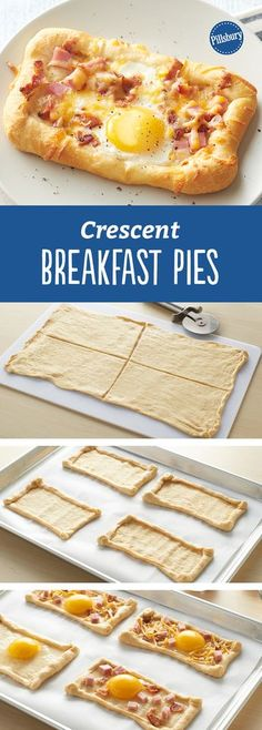 5-Ingredient Crescent Breakfast Pies: Looks fancy, but is so easy with crescent dough. These single-serving ham, bacon and egg pies make a perfect family breakfast.