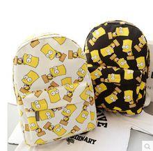 2015 Harajuku Simpson Print Women Double-shoulder Bag Canvas Bag Women's Travelling Bag Men's Backpacks School Bags…