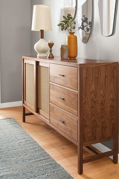 Inspired by Asian design details with a modern edge, our Berkeley storage cabinet bridges classic and contemporary styles. Expertly constructed of wood in North Dakota. Entryway Furniture, New Furniture, Living Room Furniture, Furniture Design, Luxury Furniture, Furniture Websites, Furniture Movers, Kitchen Furniture, Home Design