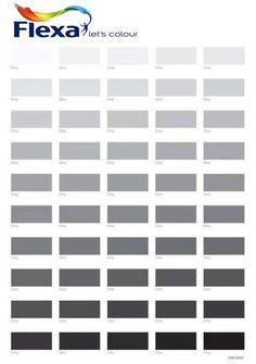 50 tinten grijs volgens Flexa #50shadesofgray