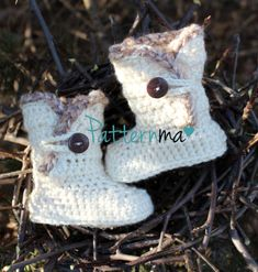 Crochet Baby Booties PDF pattern by PatternMa on Etsy, $5.00