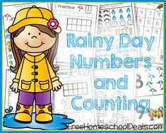 FREE RAINY DAY NUMBERS AND COUNTING PACK (Instant Download)