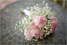 baby's breath and peony bridesmaid bouquets