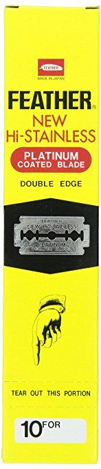 Feather Razor Blades New Hi-Stainless Double Edge, 200 Count Review
