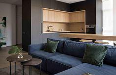 〚 Modern apartment in three levels in Kyiv sqm) 〛 ◾ Photos ◾Ideas◾ Design Interior Design Minimalist, 3d Interior Design, Studio Interior, Küchen Design, Interior Design Living Room, Modern Apartment Design, Apartment Interior, Kitchen Room Design, Modern Kitchen Design