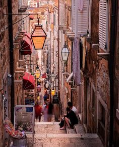 alleyway in Dubrovnik, CroatiaDubrovnik (disambiguation) Dubrovnik is a city in Croatia. Dubrovnik may also refer to: Places Around The World, The Places Youll Go, Places To Visit, Around The Worlds, Places To Travel, Travel Destinations, Travel Trip, Adventure Travel, Travel Guide