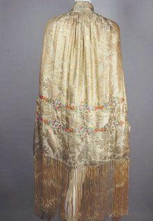 1920s silk shawl  - Courtesy of vivavintageclothing.com