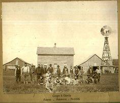 North Dakota farm and windmill
