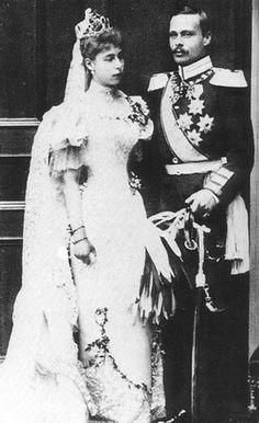 Ernst Ludwig and his 1st cousin, Princess Victoria Melita of Edinburgh, on their wedding day in 1894.  Their marriage was not a happy one.