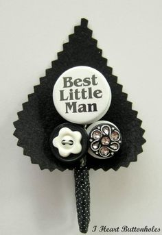 """""""Best Little Man"""" Designed by i Heart button holes available at Hugh Harris Formal. www.hughharris.co.uk"""