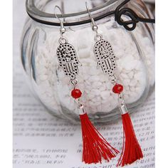 New-arrived Fashion Silver Retro Simple-shape with tassel Pendant Earrings[US$0.89],shop cheap fashion earring at www.favorwe.com