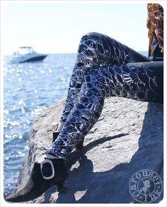Silver Rainbow Mermaid Leggings - Womens Legging - Silver BLACK - Mermaid Scales Tights - SMALL