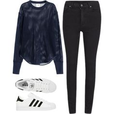 Mesh by princessabby212 on Polyvore featuring H&M, Cheap Monday and adidas