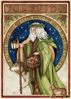 "Winter Solstice: ""Father Winter,"" by Shona M. Macdonald, for the Christmas Images, Christmas Art, Vintage Christmas, Viking Christmas, Holiday Images, Pagan Yule, Samhain, Pagan Art, Winter Holidays"