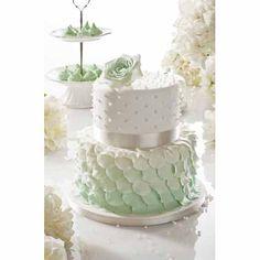 Beautiful Mint Wedding Cake