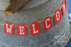 Amy's Party Ideas: Cub Scout Blue Gold Ceremony {Real Parties I've Styled} welcome banner