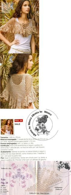 beautiful and easy crochet shawl - made in flash to warm up cool summer nights